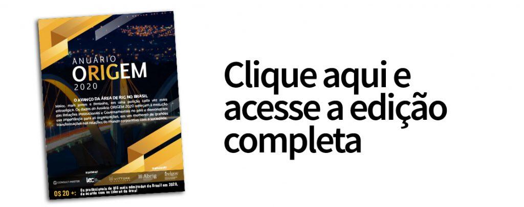Anuário ORIGEM 2020 premia Juliana Celuppi como uma das profissionais mais admiradas em RIG no Brasil