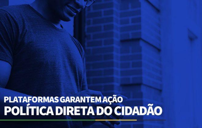 Plataformas garantem ação política direta do cidadão