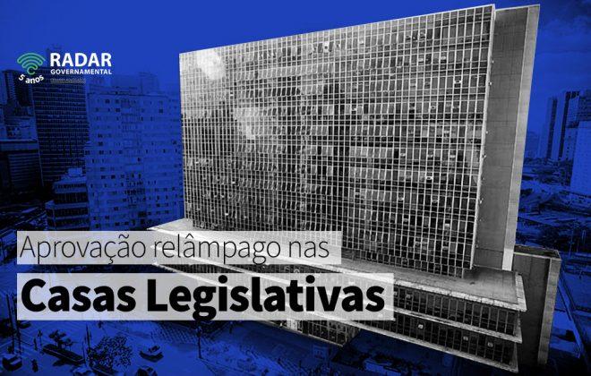 Aprovação relâmpago nas casas legislativas